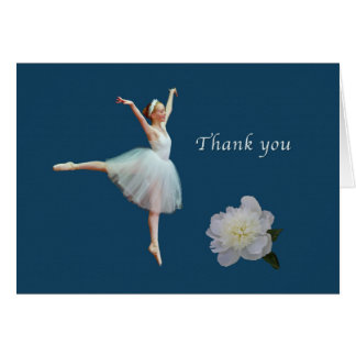 Thank You, Ballerina, Peony, Card