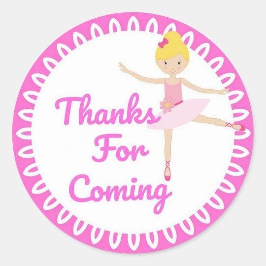 Thank You Ballerina Stickers