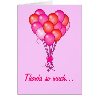 Thank You: Balloons in the Shape of a Heart Card