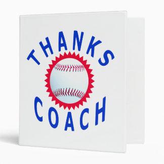 Thank You Baseball Coach Avery Binder