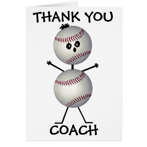 Thank You Baseball Coach Card
