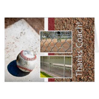 Thank you Baseball Little League Coach Greeting Card