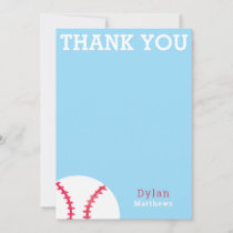 Thank You Baseball Sports Blue Personalized