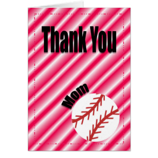 Thank You Baseball Team Mom Card