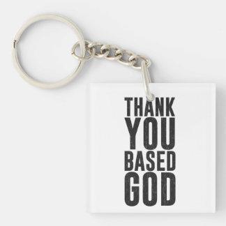 Thank You Based God Acrylic Keychain