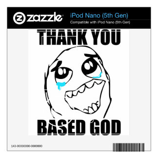 Thank You Based God Decal For The iPod Nano