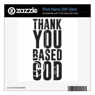 Thank You Based God Skins For iPod Nano 5G