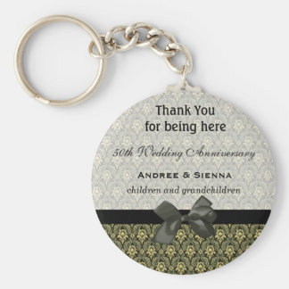 Thank You Basic Round Button Keychain