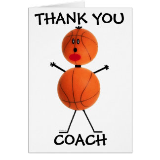 Thank You Basketball Coach Card