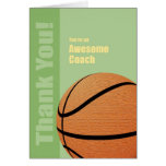 Thank You Basketball Coach Greeting Card