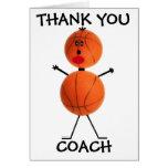 Thank You Basketball Coach Greeting Card