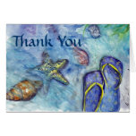 Thank You - Beach and Sea theme Greeting Cards