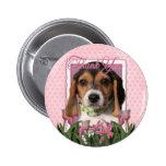 Thank You - Beagle Puppy Pin