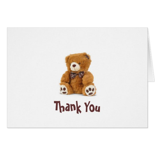 Thank You Bear Note Card