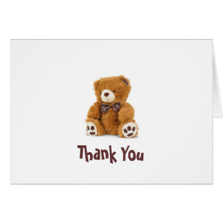 Thank You Bear Note Greeting Cards