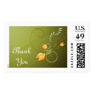 Thank You Beautiful Floral Postage Stamp
