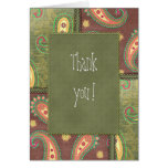 Thank you - beautiful Paisley design Greeting Cards