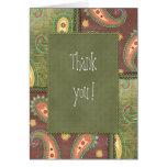 Thank you - beautiful Paisley design Greeting Card