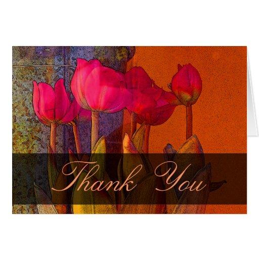 Thank You beautiful tulips Greeting Card