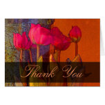 Thank You beautiful tulips Greeting Cards