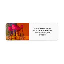 Thank You Beautiful Tulips Label