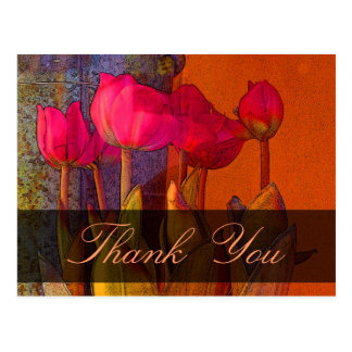 Thank You Beautiful Tulips Postcard