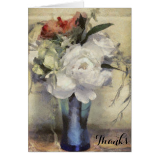 Thank You Beautiful Vase Bridal Floral Bouquet Card
