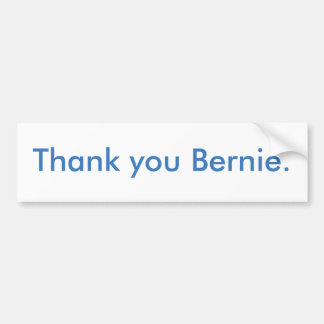 Thank you Bernie bumper sticker