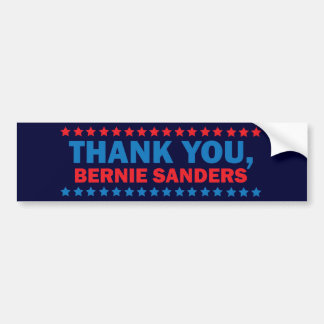 Thank you, Bernie Sanders Bumper Sticker