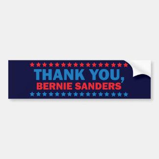 Thank you, Bernie Sanders Bumper Sticker Car Bumper Sticker