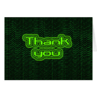 Thank you - Binary Card