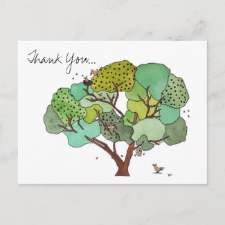 Thank You, Bird and the Bees postcard