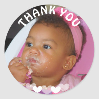 Thank You Birthday Girl Photo Sticker