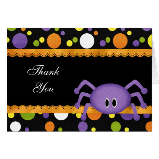 Thank you birthday Halloween Card