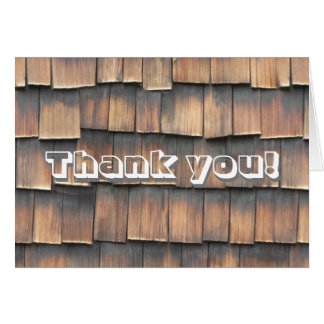 """""""Thank You"""" Birthday Party Wood Shingles for Him Card"""