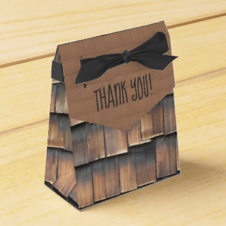 """""""Thank You"""" Birthday Party Wood Shingles for Him Favor Box"""