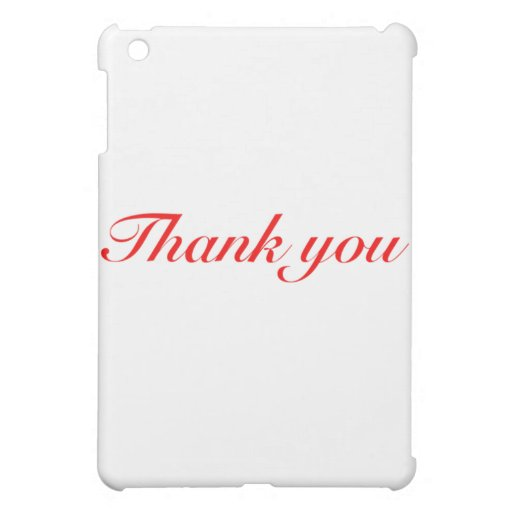 thank you black and red iPad mini cases