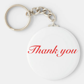 thank you black and red keychain