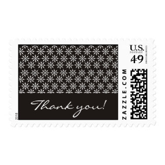 Thank you - Black and white snowflakes Postage Stamps