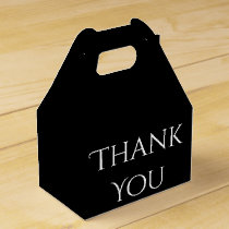 Thank You Black And White Wedding Party Favor Favor Box