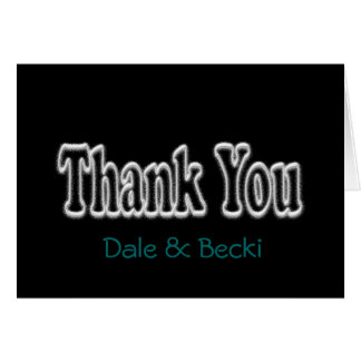 Thank You Black Notecard- personalize Card