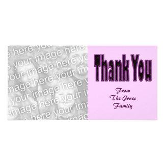 thank you black purple card