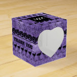 Thank You  Black/Purple Halloween Font Art Pattern Favor Box