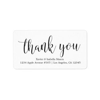 Thank You Black Script - Custom Background Color Label