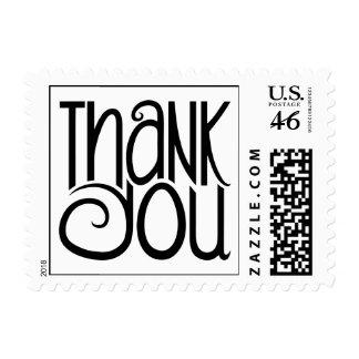 Thank You Black Stamp
