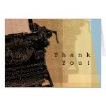 Thank You Black Typewriter Greeting Card