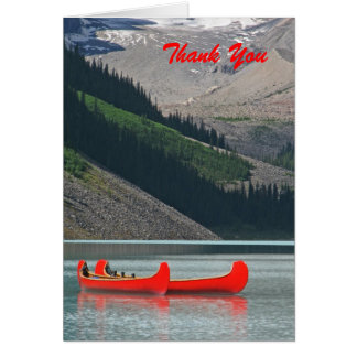 Thank You, Blank Inside, Canoes & Mountains Card