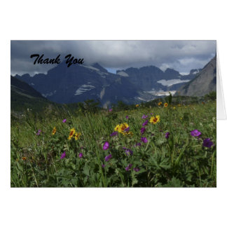Thank You, Blank Inside, Mountain Wildflowers Card