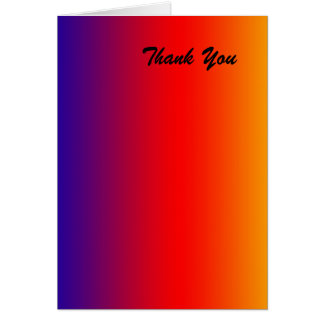 Thank You, Blank Inside, Vivid Rainbow Card