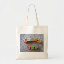 Thank you blocks-Baby Shower Tote Bag